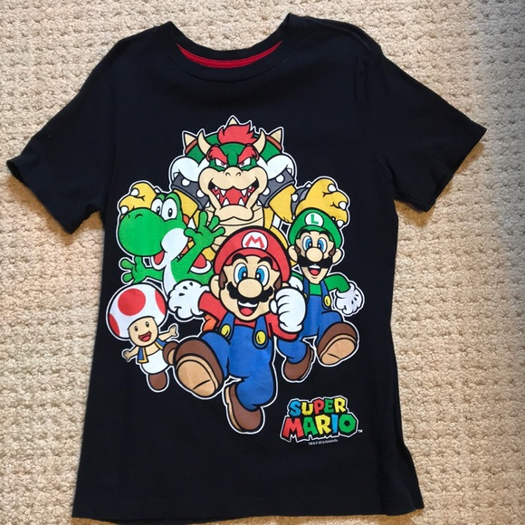 Tops, Shirts & T-shirts Clothing, Shoes & Accessories Old Navy Boys Tee Shirt L 10-12 Old Navy Collectabilitees Gray Super Mario